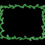 緑の葉のフレーム